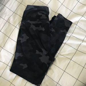 Activology camo leggings blue gray black